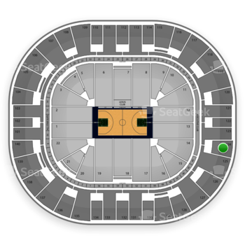 Utah Jazz at EnergySolutions Arena Section 124 View