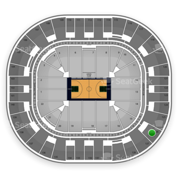 Utah Jazz at EnergySolutions Arena Section 126 View