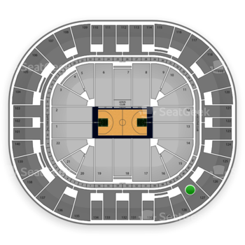 Utah Jazz at EnergySolutions Arena Section 127 View