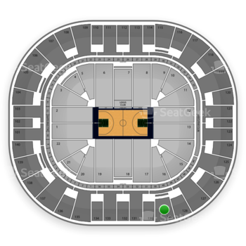 Utah Jazz at EnergySolutions Arena Section 129 View