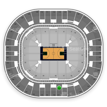 Utah Jazz at EnergySolutions Arena Section 131 View