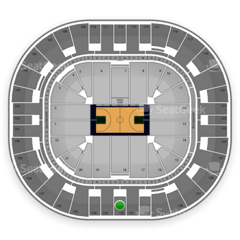 Utah Jazz at EnergySolutions Arena Section 132 View
