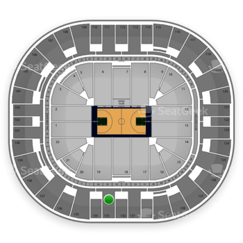Utah Jazz at EnergySolutions Arena Section 133 View