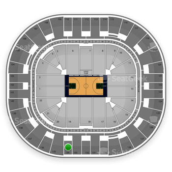 Utah Jazz at EnergySolutions Arena Section 134 View
