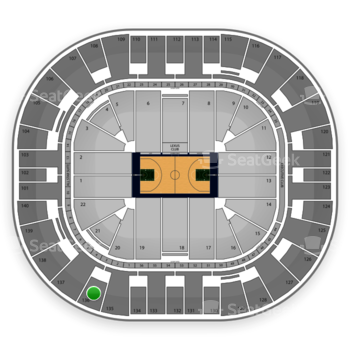 Utah Jazz at EnergySolutions Arena Section 136 View