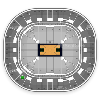 Utah Jazz at EnergySolutions Arena Section 137 View