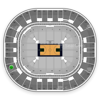 Utah Jazz at EnergySolutions Arena Section 139 View