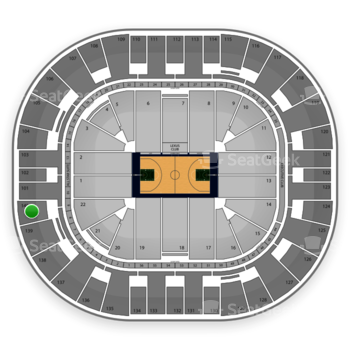 Utah Jazz at EnergySolutions Arena Section 140 View