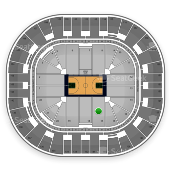 Utah Jazz at EnergySolutions Arena Section 17 View