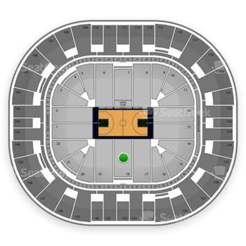 Utah Jazz at EnergySolutions Arena Section 18 View