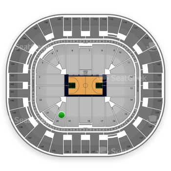 Utah Jazz at EnergySolutions Arena Section 20 View