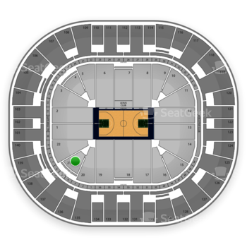 Utah Jazz at EnergySolutions Arena Section 21 View