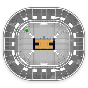 Utah Jazz at EnergySolutions Arena Section 4 View