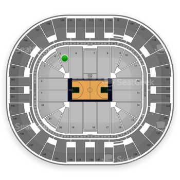 Utah Jazz at EnergySolutions Arena Section 5 View