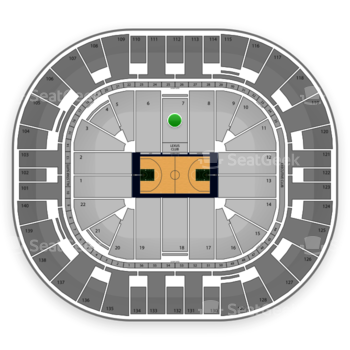 Utah Jazz at EnergySolutions Arena Section 7 View