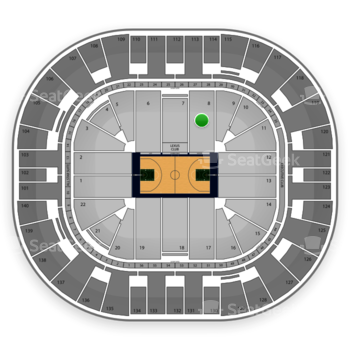 Utah Jazz at EnergySolutions Arena Section 8 View