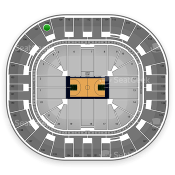 Utah Jazz at Vivint Smart Home Arena Section 108 View
