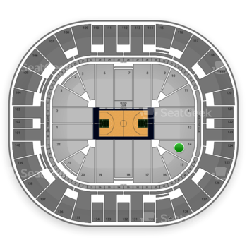 Utah Jazz at Vivint Smart Home Arena Section 14 View