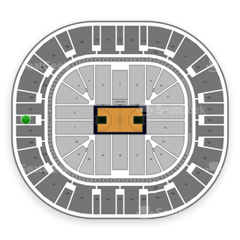 Utah Jazz at Vivint Smart Home Arena Section 102 View