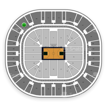 Utah Jazz at Vivint Smart Home Arena Section 107 View