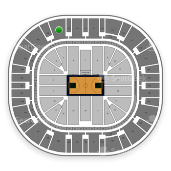 Utah Jazz at Vivint Smart Home Arena Section 109 View
