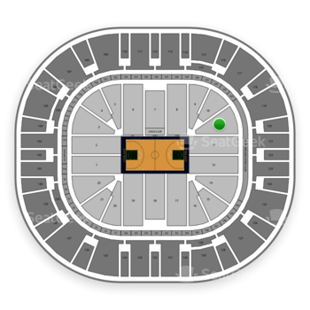 Utah Jazz at Vivint Smart Home Arena Section 11 View