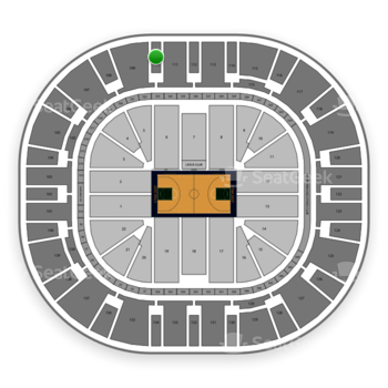 Utah Jazz at Vivint Smart Home Arena Section 110 View