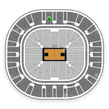 Utah Jazz at Vivint Smart Home Arena Section 111 View