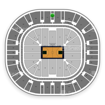 Utah Jazz at Vivint Smart Home Arena Section 112 View