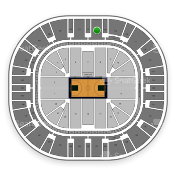 Utah Jazz at Vivint Smart Home Arena Section 113 View
