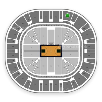 Utah Jazz at Vivint Smart Home Arena Section 115 View