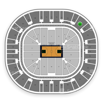 Utah Jazz at Vivint Smart Home Arena Section 117 View