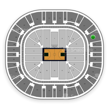 Utah Jazz at Vivint Smart Home Arena Section 119 View