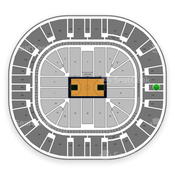 Utah Jazz at Vivint Smart Home Arena Section 122 View