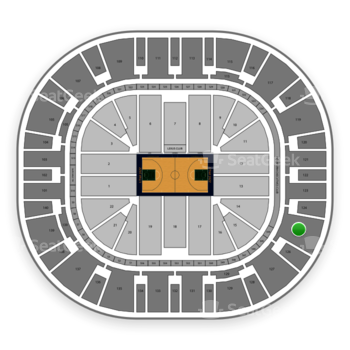 Utah Jazz at Vivint Smart Home Arena Section 125 View