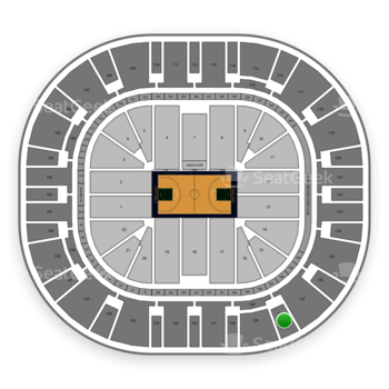 Utah Jazz at Vivint Smart Home Arena Section 128 View