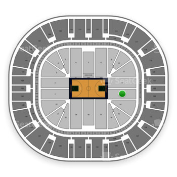 Utah Jazz at Vivint Smart Home Arena Section 13 View