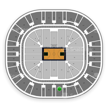 Utah Jazz at Vivint Smart Home Arena Section 131 View