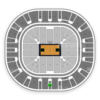 Utah Jazz at Vivint Smart Home Arena Section 132 View