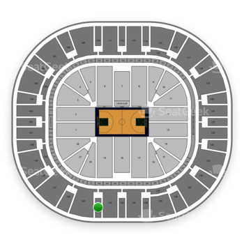 Utah Jazz at Vivint Smart Home Arena Section 134 View