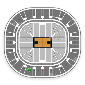 Utah Jazz at Vivint Smart Home Arena Section 135 View