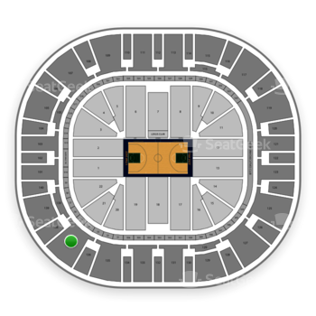 Utah Jazz at Vivint Smart Home Arena Section 137 View