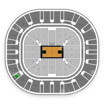 Utah Jazz at Vivint Smart Home Arena Section 138 View
