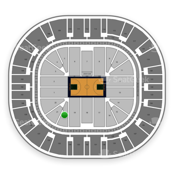 Utah Jazz at Vivint Smart Home Arena Section 20 View