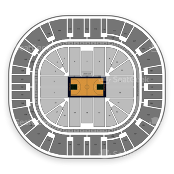 Utah Jazz at Vivint Smart Home Arena Section 208 View