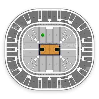 Utah Jazz at Vivint Smart Home Arena Section 6 View