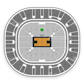 Utah Jazz at Vivint Smart Home Arena Section 7 View
