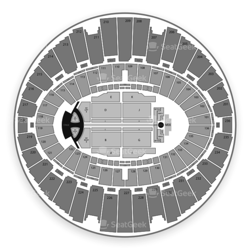 Los Angeles Forum Seating Chart For Concerts Trinity