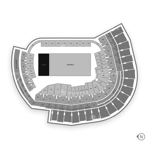 Center Parc Credit Union Stadium Seating Chart Concert