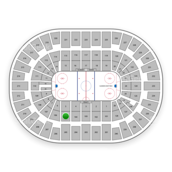 New York Islanders at Nassau Coliseum Section 105 View
